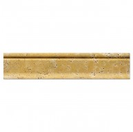 3 in. x 12 in. Yellow (Gold) Travertine Honed Crown Chair Rail Molding