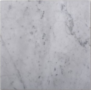 Italian White Carrara Marble Polished 12x12 Floor and Wall Tile