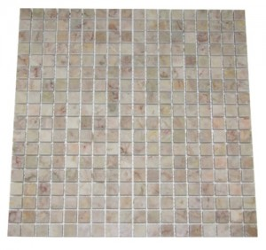Mini Square Lotus Rosalia Marble Polished Mosaic Tile | Kitchen | Bathroom | Shower Floor | Shower Wall | Backsplash | Accent Wall