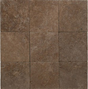 12x12 Noce / Noche Tumbled Travertine Pavers  for Driveway, Patio and Pool Deck