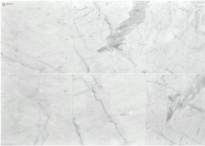 Italian White Carrara Marble Honed 12x24 Floor and Wall Tile