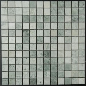 Ming Green Marble 1x1 Polished Mosaic Tile