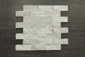 1.5 in. x 4 in. Wooden Gray Brick Split Face Marble Mosaic Tile | Wall | Backsplash | Bathroom | Kitchen | Shower | Natural Stone