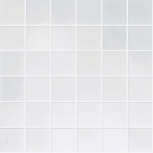 2x2 Bianco White Carrara Marble Square Pattern Polished Mosaic tile