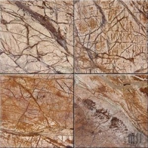 Cafe Forest Brown Polished Marble Flooring 12 in. x 12 in. Tiles
