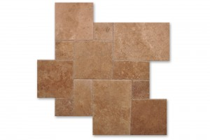 Travertine Noce Premium Chiseled Finish 18×18