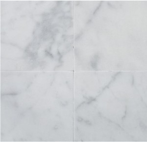Italian White Carrara Marble Honed 12x12 Floor and Wall Tile