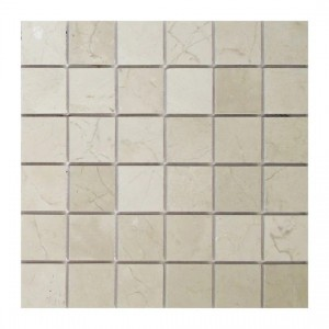2 in. x 2 in. Crema Marfil Honed Marble Mosaic Tile | Floor | Wall | Accent | Backsplash | Shower