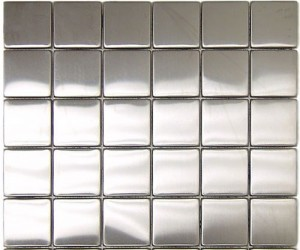 2 x 2 in. Stainless Steel backsplash Polished Metal Mosaic Tile