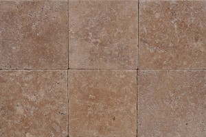 Travertine Noce Premium Tile  18×18 Tumbled Finish