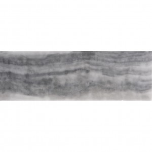 4x12 Bardiglio Nuvolato Grey Marble Polished Subway Tile