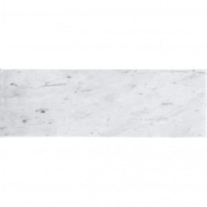 4x12 Bianco Carrara Honed White Marble Subway Tile