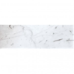 4x12 Bianco Carrara Polished White Marble Subway Wall Tile
