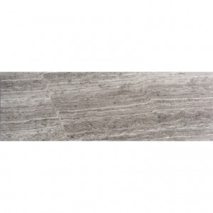 4x12 Wooden Grey Marble Polished Subway Tile
