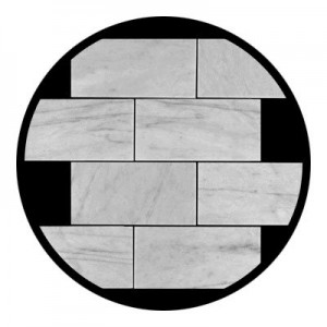 "Bianco White Carrara 3"" x 6"" Subway Polished Marble Tile"