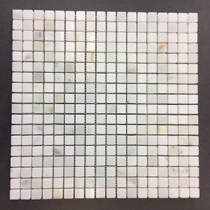 5/8 in. x 5/8 in. Calacatta Gold Polished Marble Mesh Mounted Mosaic Tile | Wall | Backsplash | Bathroom | Kitchen | Shower