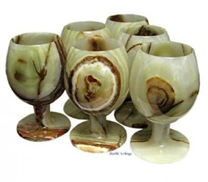 Green Onyx Cordial 6 PC Set Comes in Free Gift Box