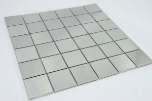 "Stainless Steel Metal 2""x2"" Square Tile"