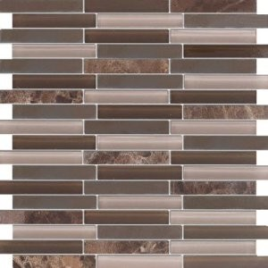 Random Chocolate Truffle Dark Emperador Marble Brown Glass Tile