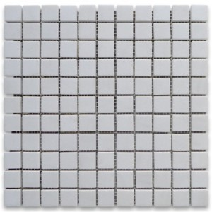 Thassos White 1 X 1 Honed Marble Mosaic Tile
