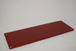 Ruby Red 4 in. x 12 in. Glass Glossy Tile