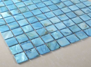 "Blue Shell - 1""x1"" Blue Shell Tile (1/8"" Thickness)"