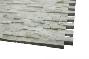 Wooden Gray Split Faced Tiles 1/4""