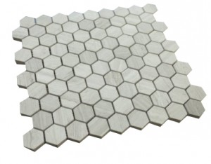 Wooden Gray Hexagan Tiles