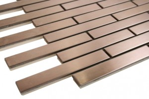 "Bronze Metal Brick Pattern (5/8"" x 3 7/8"")"