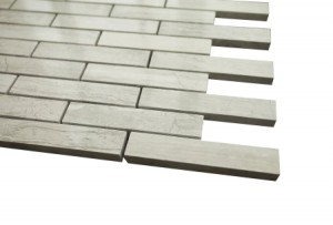 "Wooden Gray Brick Design Tiles 1"" X 3"""