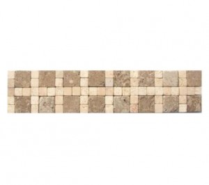 3 in. x 12 in. Cornerless Travertine Border Floor & Wall Tile