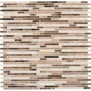 Emperador Blend Bamboo 12x12 Honed Marble Tile
