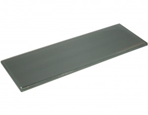 Eclipse 4 in. x 12 in. Blue Grey Glass Tile