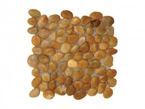Pebbles Yellow Polished 12 in. x 12 in Tile