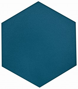 8 in. x 9 in. Flow Cosmic Sapphire Textured Ceramic Hexagon Tile | Roca Tile | Wall Tile | Backsplash | Accent Wall | Modern Tile | Field Tile