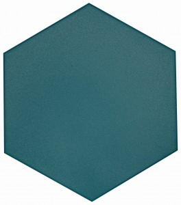 8 in. x 9 in. Flow Peacock Green Textured Ceramic Hexagon Tile | Roca Tile | Wall Tile | Backsplash | Accent Wall | Modern Tile | Field Tile