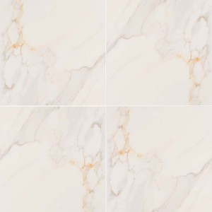 Adella Calacatta White Matte 18 in. x 18 in. Porcelain Floor and Wall Tile | Backsplash | Bathroom | Kitchen | Shower | Fireplace | Countertop