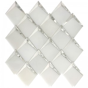 Angolo Paper white Shell Marble Waterjet Mosaic Tile