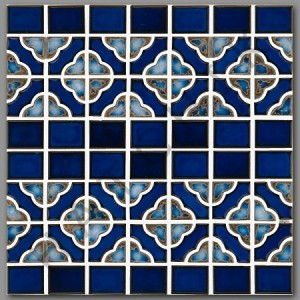 Aqua Terra Blue Glazed Porcelain Mosaic Tile for Pool, Wall and Backsplash