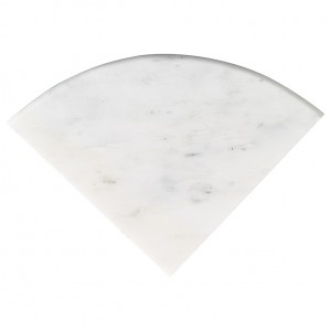 "Arabescato Carrara 9"" Radius Polished Marble Corner Shelf - Pay $28/pc when you buy 3 or more 