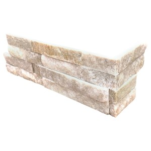 Arctic Golden Ledger Panel Corner 6 x 18  x 6  Natural Quartzite Wall Tiles