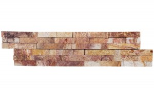 Autumn Meadow Ledger Panel 6 in. x 24 in. Natural Quartzite Wall Tile