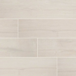 Palmetto Bianco Matte Grey-Light 6 in. x 36 in. Porcelain Floor and Wall Tile | Backsplash | Bathroom | Kitchen | Shower | Fireplace | Countertop