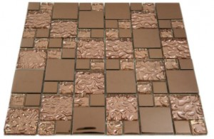 Bronze Cooper Metal & Bronze Glass Tile