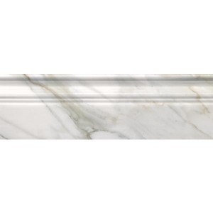 Calacatta Gold Marble 4x12 Polished Baseboard Molding