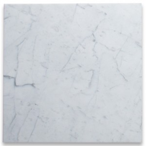 Bianco White Carrara Marble Polished 24x24 Floor and Wall Tile