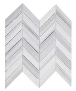 Chevron Marmala White Honed Marble Mosaic Tile | Wall | Floor | Backsplash | Accent Wall | Kitchen | Bathroom | Shower