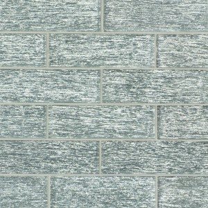 2 in. x 6 in. Chilcott Bright Textured Glass Subway Tile | Wall | Backsplash | Bathroom | Kitchen | Shower | Fireplace | Countertop