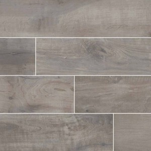 Country River Stone Grey Matte 6 in. x 36 in. Glazed Porcelain Floor and Wall Tile | Backsplash | Bathroom | Kitchen | Shower | Fireplace | Countertop