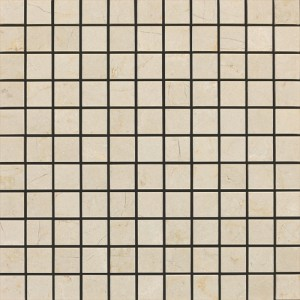 1 in. x 1 in. Spanish Crema Marfil Marble Polished Mosaic Tile